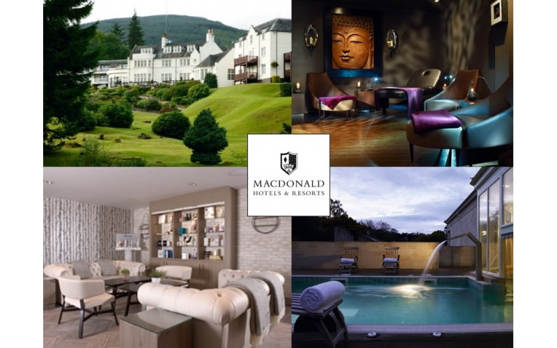 One Night Summer Retreat Spa Break for two, including 3 course dinner, breakfast and lunch at Macdonald Hotels & Resorts.