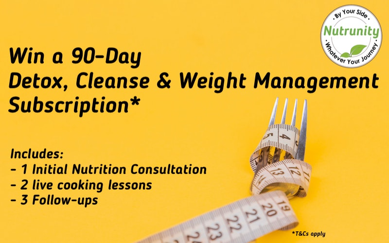 90 days FREE Detox, cleanse and Weight Management Subscription