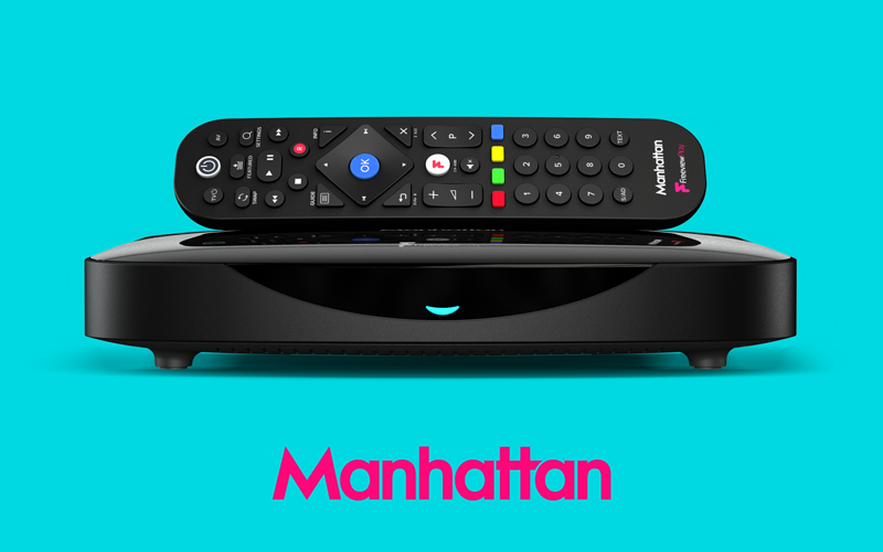 Manhattan T3-R Freeview Play Smart Recorder,