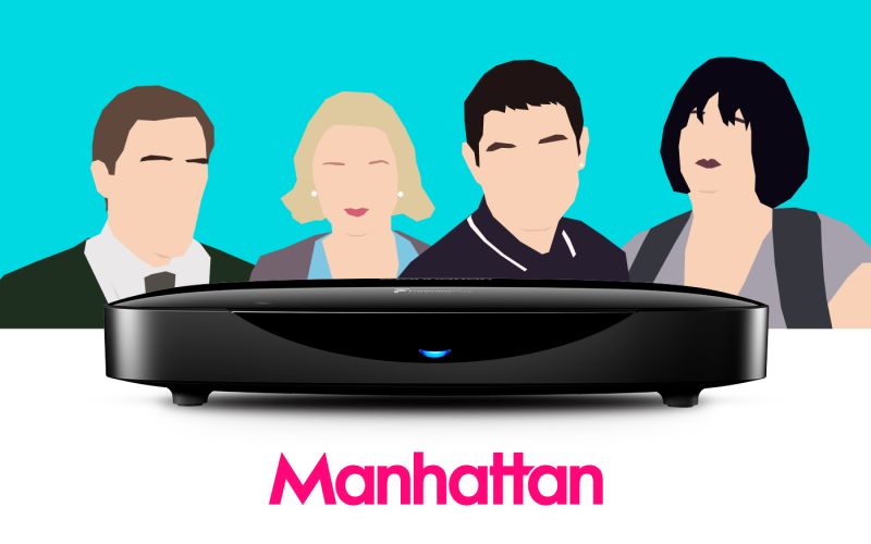 Manhattan T3-R Freeview Play Smart Recorder