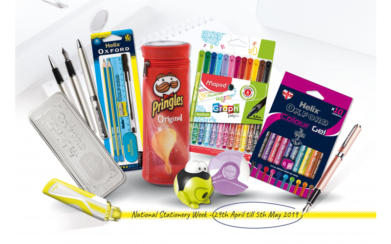 A writing set, student set in limited edition clashing colours and brand new gel pens from the popular Oxford range, along with a Maped frog pencil sharpener, G
