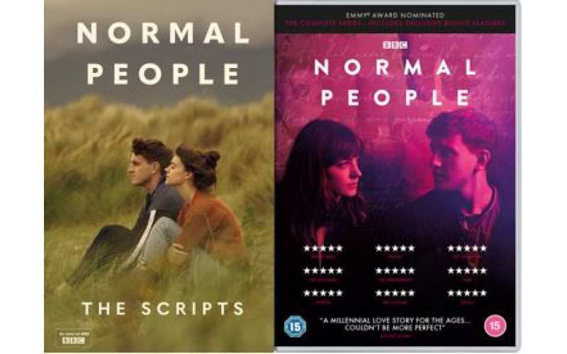 Copy of Normal People on DVD and a copy of the book entitled Normal People: The Script