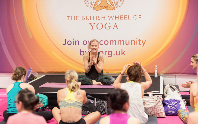A pair of weekend passes for the OM Yoga Show Manchester