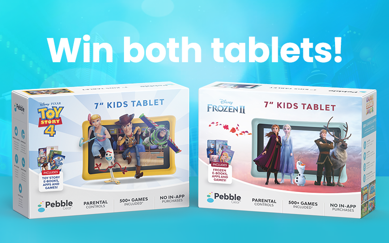 1 Toy Story 4 tablet and 1 Frozen 2 tablet plus accessories