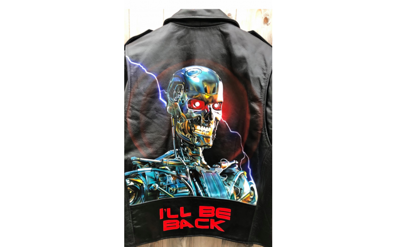 A Gogairy Hand Painted Leather Jacket