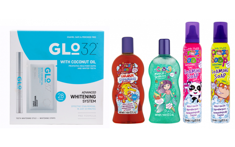 Glo32 Whitening System Kit and Kids Stuff Crazy Bathtime Products