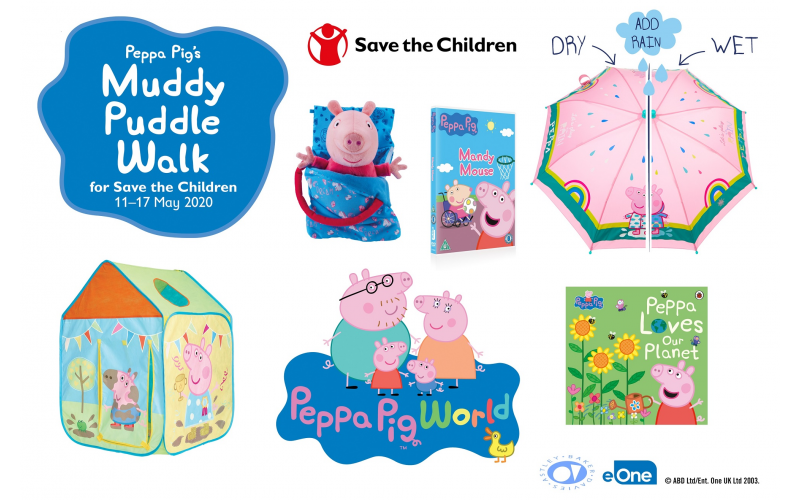 Peppa Pig World tickets and goodies for Save the Children's Muddy Puddle Walk