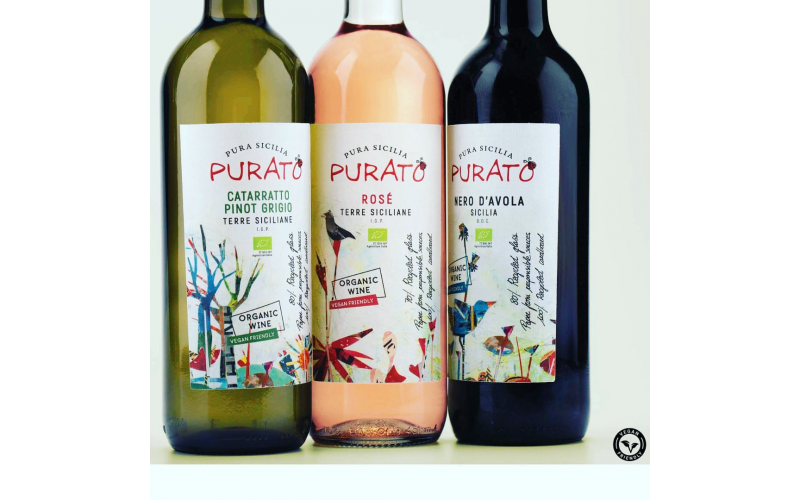 4 mixed cases of Organic Purato wine from Sicily