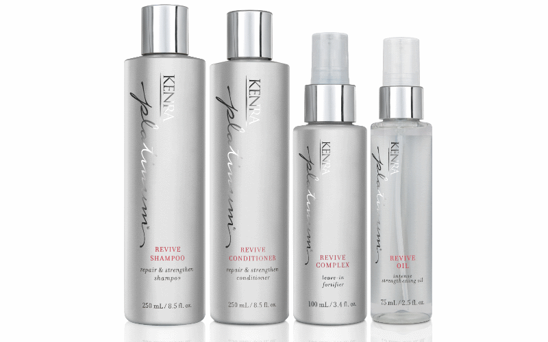 set of the Kenra Platinum® Revive Collection
