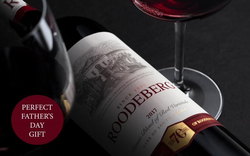 2 cases of the iconic Roodeberg Classic Red wine