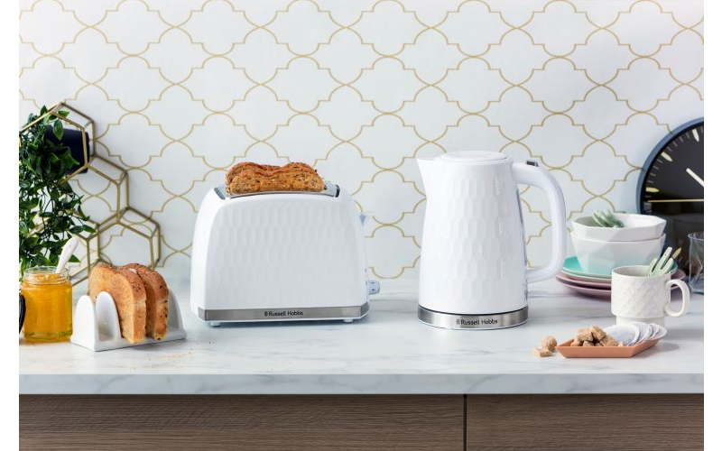 Black Honeycomb Kettle and Two-Slice Toaster sets