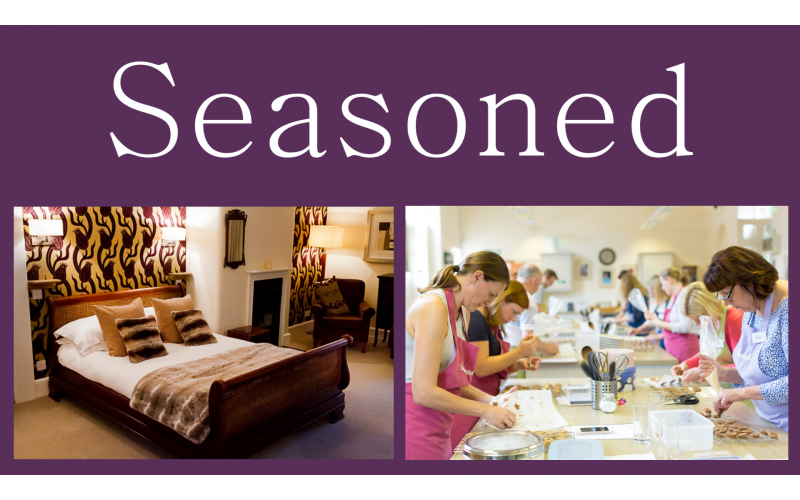 Two Vouchers To Spend At Seasoned Cookery School Worth £149 Each & One Night Stay at St John's House in Lichfield