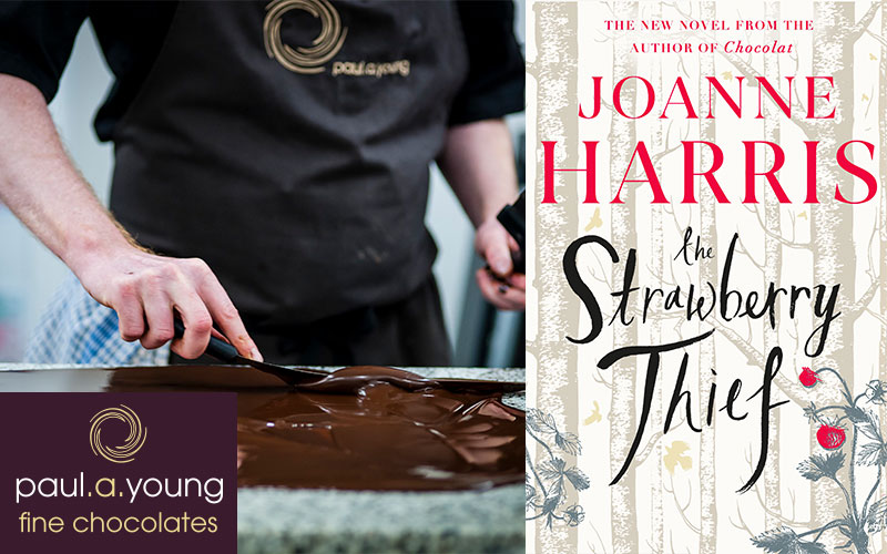 A hardback copy of The Strawberry Thief by Joanne Harris, plus two places on a luxury Chocolate Tasting and Making masterclass at top award-winning chocolaterie