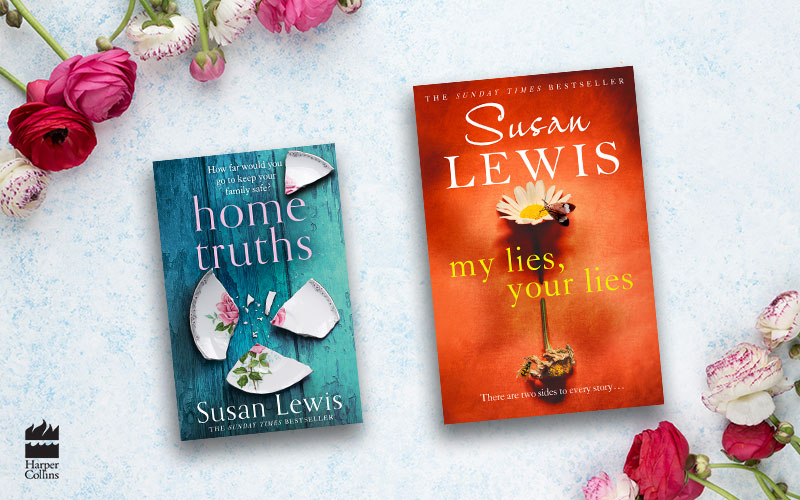 Signed copies of Susan Lewis' new books, Home Truths and My Lies, Your Lies