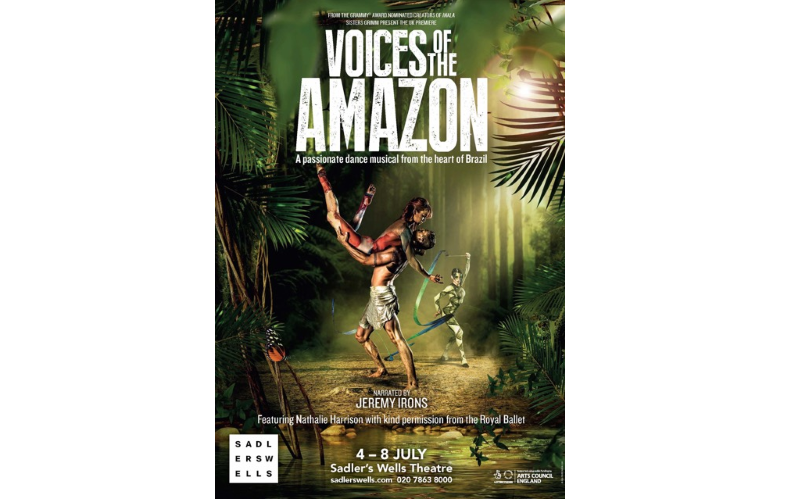 A pair of tickets, CD and signed programme to VOICES OF THE AMAZON