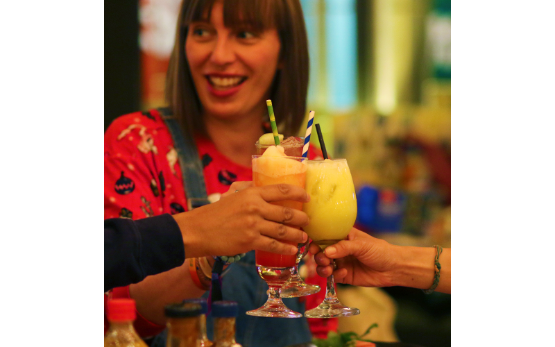 A £100 voucher to enjoy a meal for four people at Turtle Bay