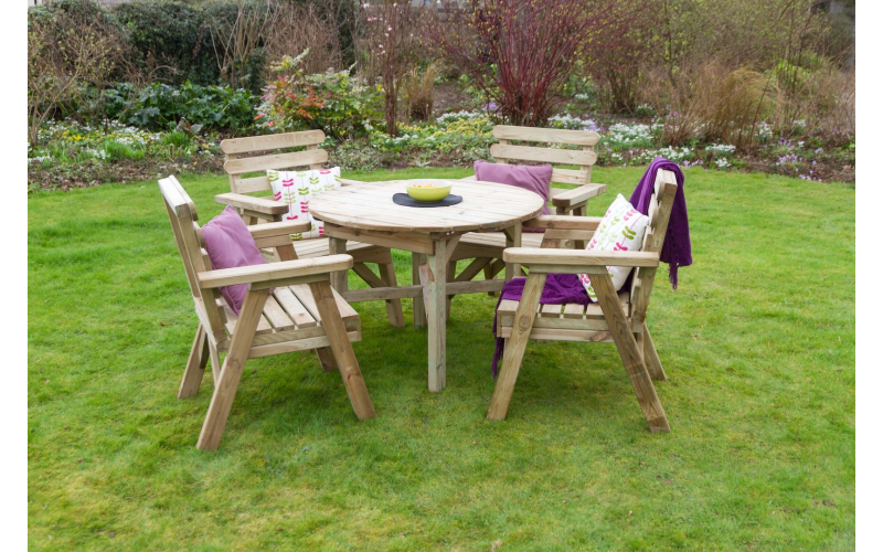 Abbey Table and Four Chair Set