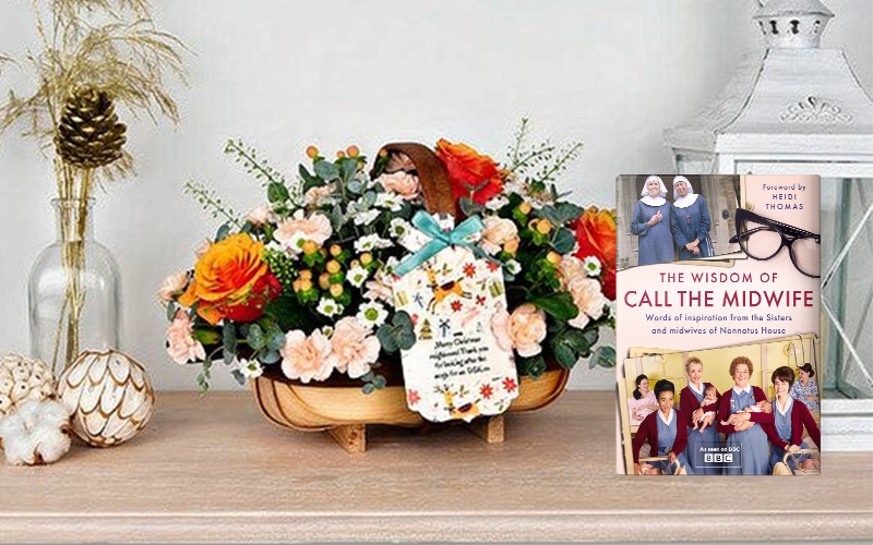 A £100 Flowercard gift voucher and a copy of THE WISDOM OF CALL THE MIDWIFE book