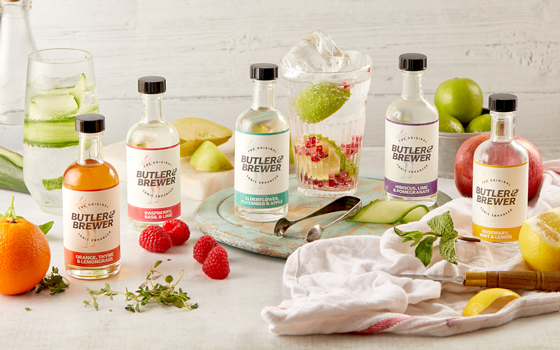 One set of three flavours of tonic enhancers from Butler & Brewer
