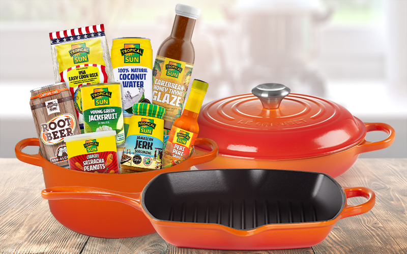 £50 of Tropical Sun products AND Le Creuset set worth £545