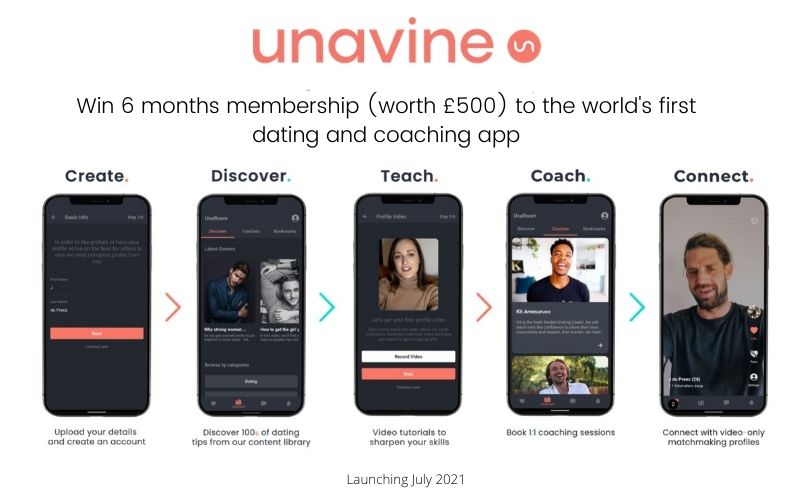 Win a 6 Month Membership to world's first dating coaching and video-only matchmaking app worth £500