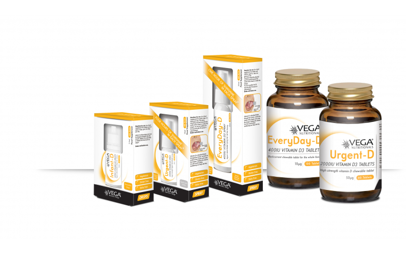 A Family Pack of VEGA Vitamin D Products