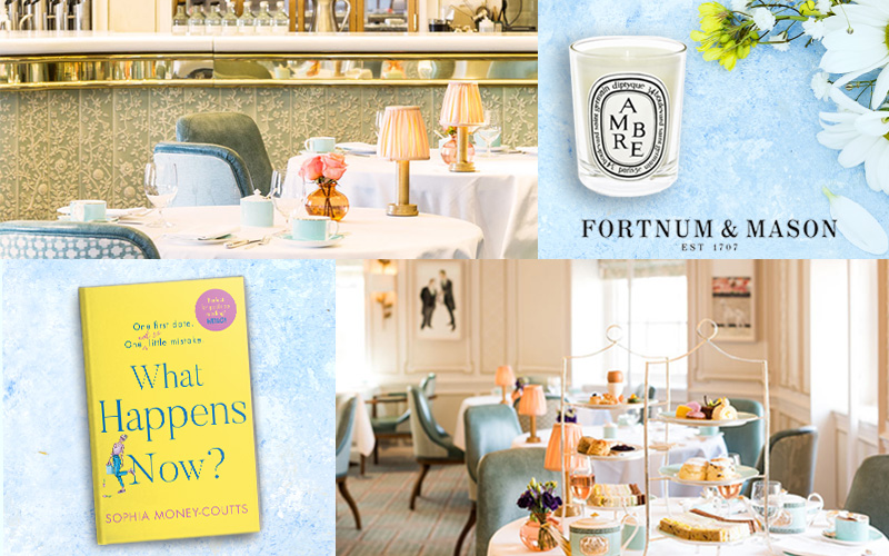 Win a Champagne Afternoon Tea for Two in The Diamond Jubilee Tea Salon, a Diptyque Candle and a copy of What Happens Now?