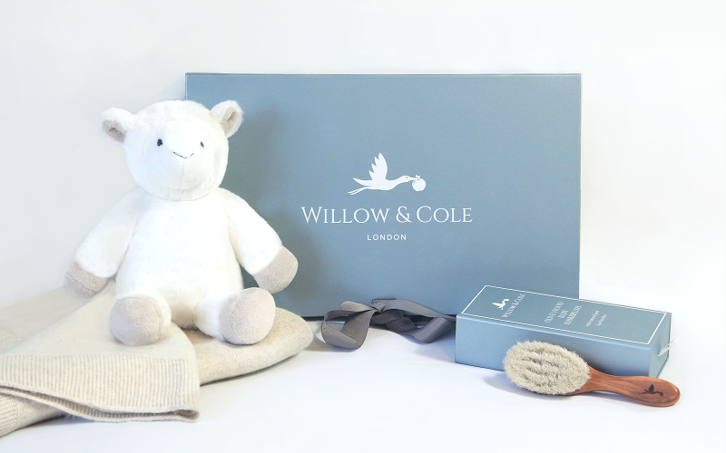 Luxury Baby Gift Set exclusively from Willow and Cole, a premium baby gift company