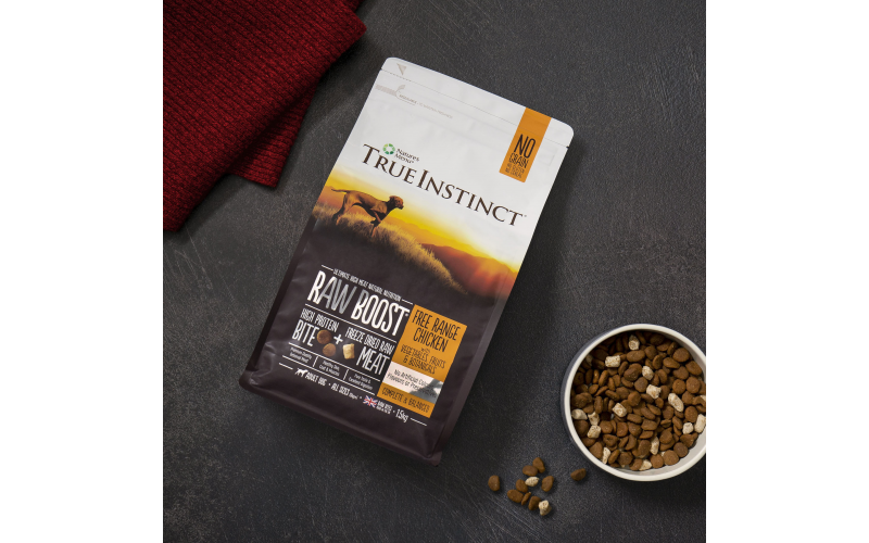 Win 2 1.5kg Bags of True Instinct Raw Boost