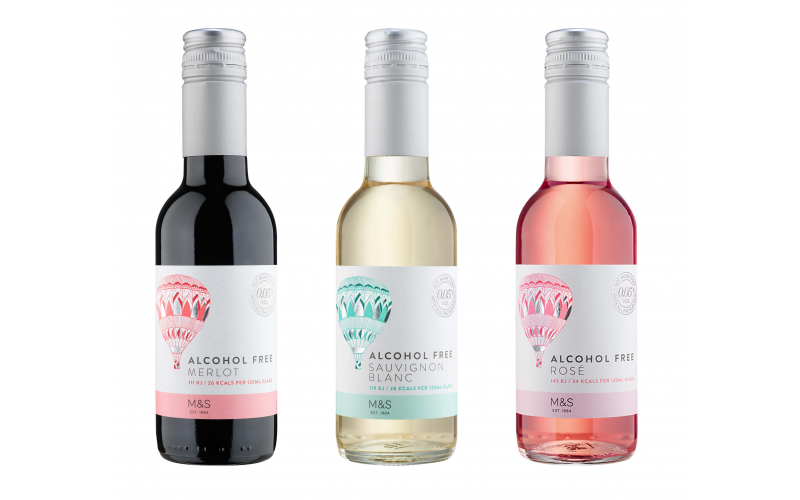 3 Cases of M&S Alcohol Free Wine