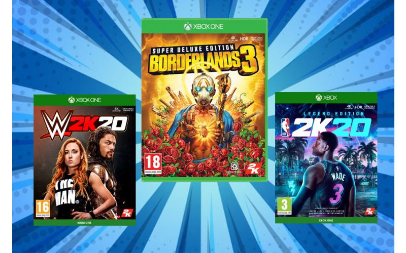 2K gaming bundle including Borderlands, NBA 2K20 and WWE 2K20