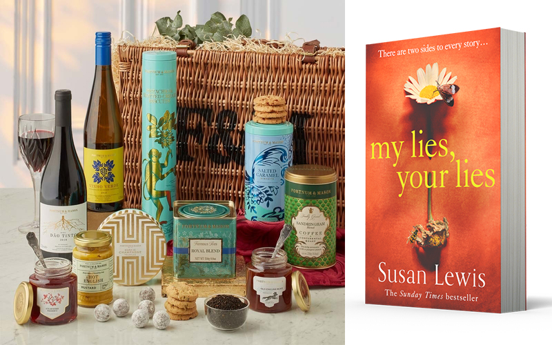 A Fortnum & Mason picnic hamper and a copy of Susan Lewis' new book, My Lies, Your Lies in paperback!