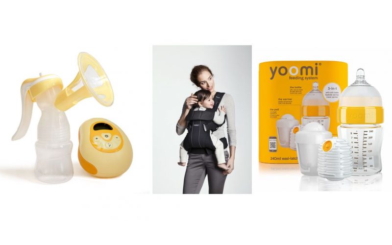 Win a BabyBjörn Carrier One, a yoomi® 3-in-1 Electric Breast Pump and yoomi® self warming bottles!