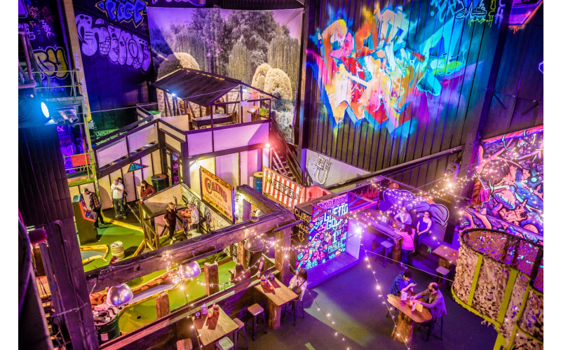 Golf, Cocktails and Food Package at Ghetto Golf