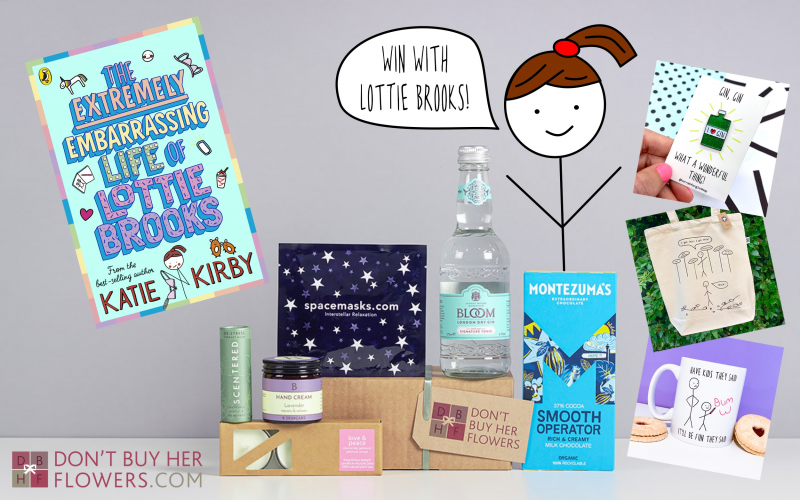 signed copy of The Extremely Embarrassing Life of Lottie Brooks, a £30 voucher from online gifting company Don't Buy Her Flowers, and Hurrah for Gin merchandise