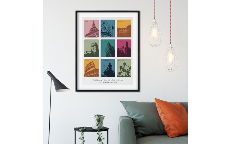Personalised Travel Memories A2 Framed Print