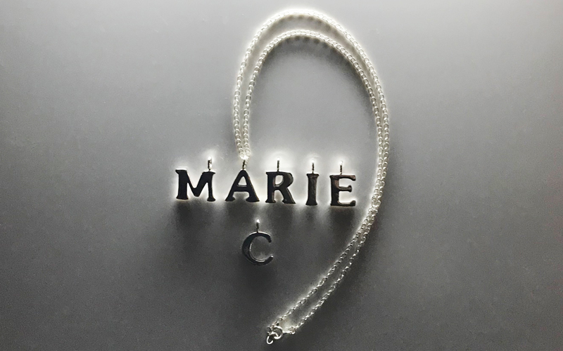 Stunning Silver Letter Charm Necklace