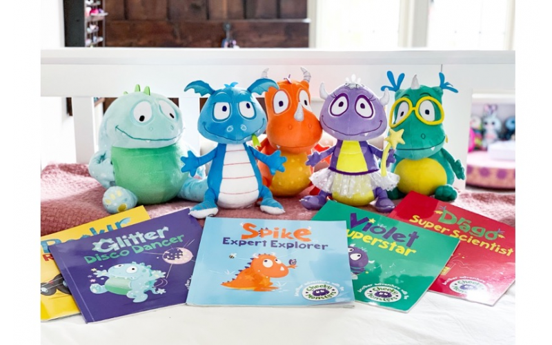 Complete set of the Cheeky Monster soft toys accompanied by their unique storybooks