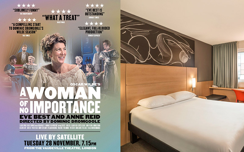 A TRIP TO SEE THE LIVE CINEMA BROADCAST OF A WOMAN OF NO IMPORTANCE AND STAY AT THE IBIS GLASGOW CITY CENTRE