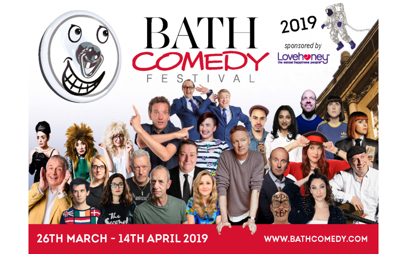 A romantic comedy weekend in Bath including train fares, a night at the Apex Hotel, tickets to the closing gala of the Bath Comedy Festival, dinner, an open top