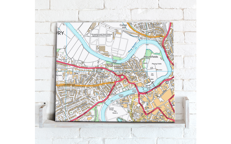 Custom Made Map Canvas Print