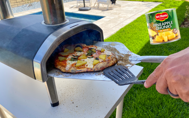 Win a garden pizza oven with Del Monte® Canned Fruit