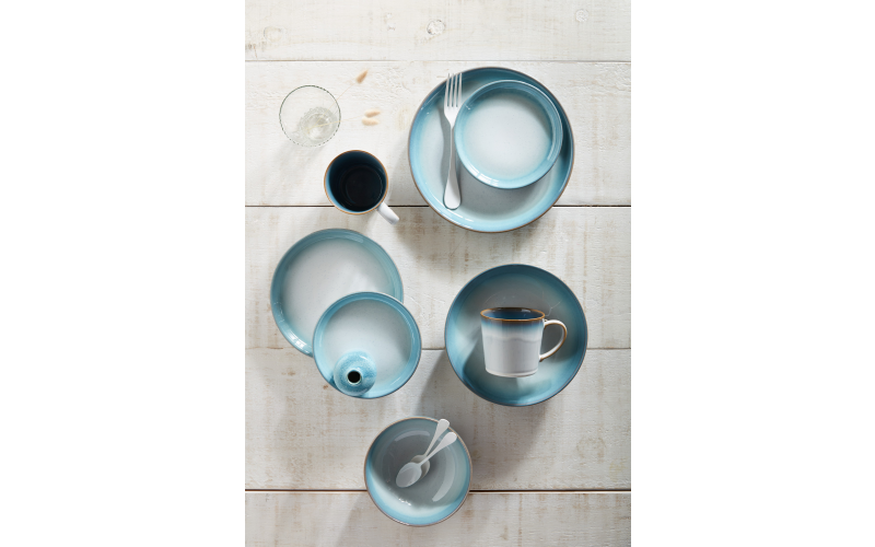 A selection of striking ceramics from the Denby Azure Haze collection