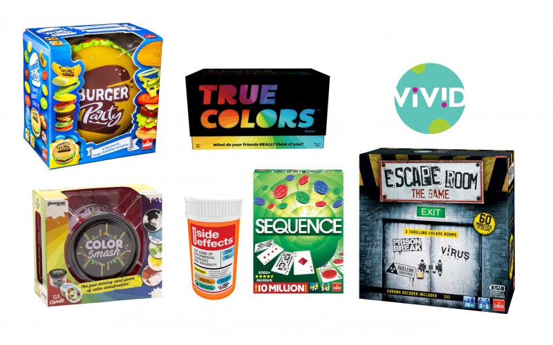 Games for all the family bundle - Escape Room, Sequence, Side Effects, True Colors, Colour Smash, Burger Party