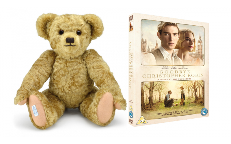 A Merrythought Bear + Goodbye Christopher Robin on DVD
