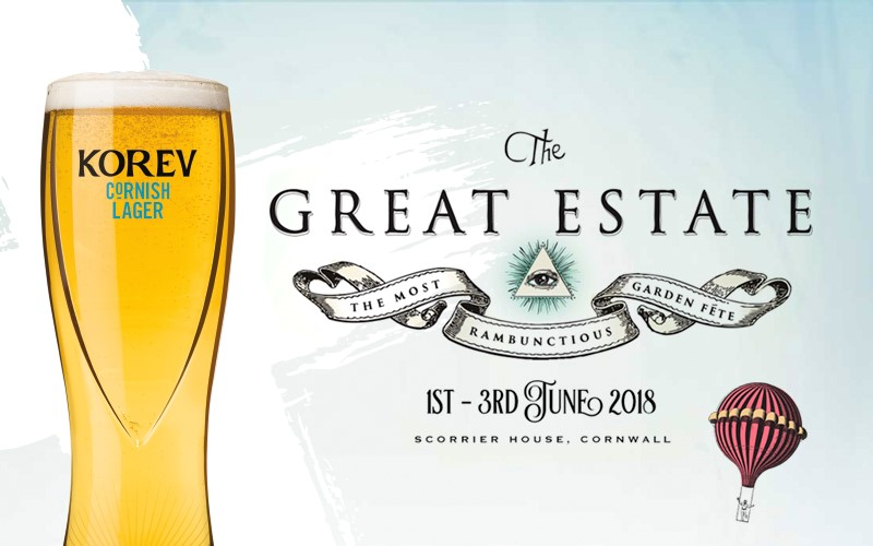 Win tickets to the Great Estate festival and Korev Cornish lager