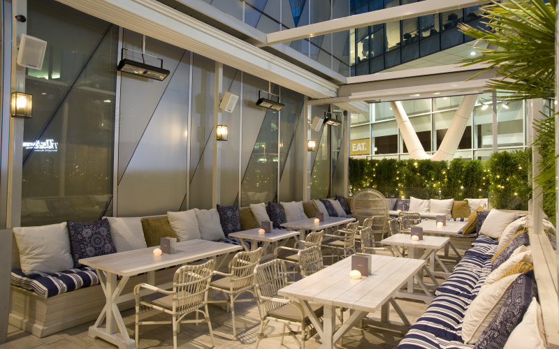 one round of Le Grand Fizz cocktails and sushi dishes for four at Australasia Terrace