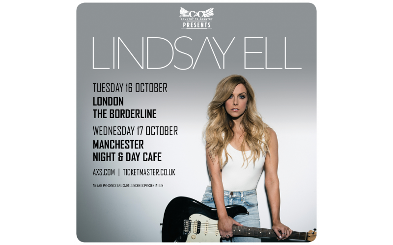 Lindsay Ell signed 'The Project' CD + pair of tickets to winner's choice of London (Oct 16th) or Manchester (Oct 17th) headline show