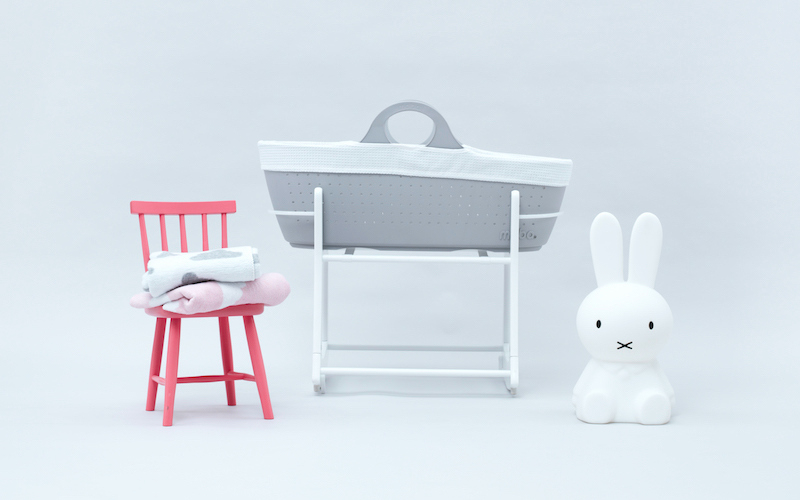 Win a Contemporary Moba Moses Basket Set - Including Stand