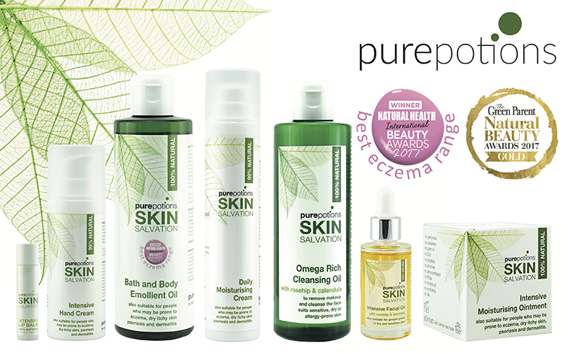 Natural skincare bundle for sensitive skin from Purepotions
